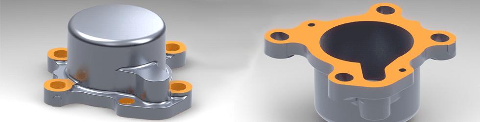 Projekt CAD obudowy pompy